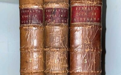 PENNANT (T) A Tour in Scotland, vols. 1-3, 1774 and 1776, 4to, mixed editions; CORDINER (C)