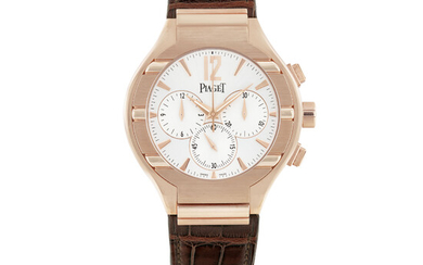 PIAGET, PINK GOLD, POLO 25TH ANNIVERSARY, CHRONOGRAPH