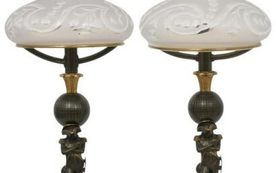 Pair of French Neoclassical Sinumbra Lamps
