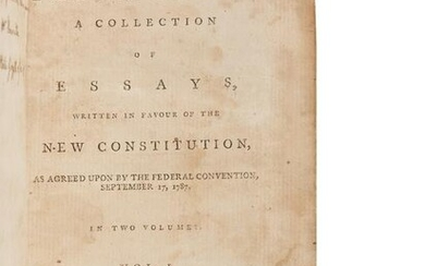[THE FEDERALIST PAPERS]. [HAMILTON, Alexander