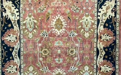 Turkish Hand Knotted Oushak Rug, 7.9 x 9.8