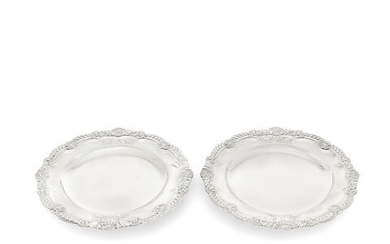 Two Victorian silver plates