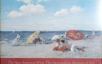 William Merritt Chase, At the Seaside, Poster on board