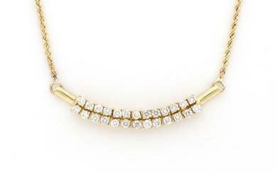 no reserve price - 18 kt. Yellow gold - Necklace - 1.61 ct Diamonds