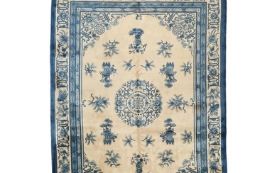 10' x 14'11 Hand-Knotted Chinese Room Sized Rug