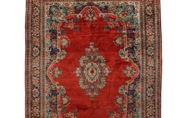 10'3 x 13'8 Hand-Knotted Persian Kerman Room Sized Rug