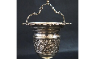 A Continental Silver Vessel with embossed scrolling acanthus...