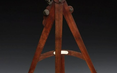 A FINE 19TH CENTURY OCTANT WITH ETCHED SCALE AND INLAY