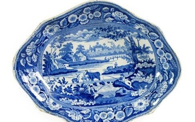 A Pair of John Meir Pearlware Dishes, circa 1820, of...