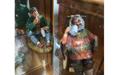 A Royal Doulton Figure of The Poacher (HN2043) and The Foamy...