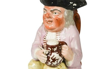 A Staffordshire Toby jug, early 19th century