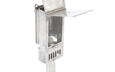 A Victorian silver travelling carriage lamp