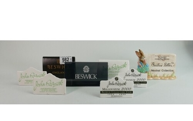 A collection of Beswick pottery name stands: and one other. ...