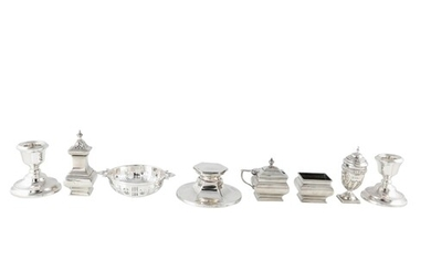 AN INTERESTING COLLECTION OF EARLY TWENTIETH CENTURY SILVER ...