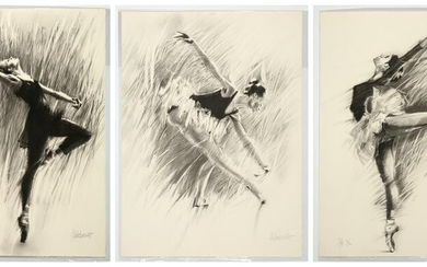 Aldo Luongo, Three Lithographs from the Ballerina Suite