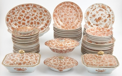 Assembled Chinese Export Porcelain Dinner Service