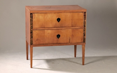 Biedermeier chest of drawers with two drawers,...