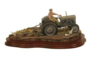 Border Fine Arts 'The Fergie' (Tractor Ploughing), model No. JH64...