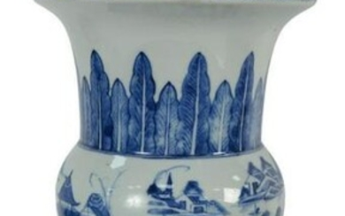Chinese Blue and White Porcelain Vase made into a table