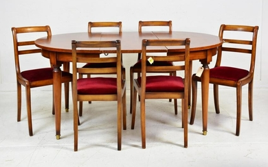 Dining Table & 6 Ladder Back Chairs