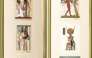 Egyptian Hand Painted Papyrus Paintings, 2