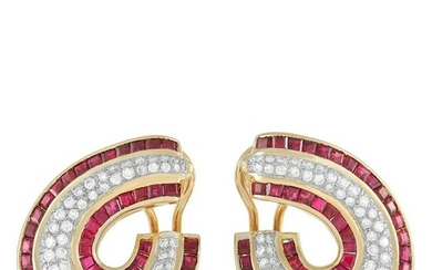 LB Exclusive 18K Yellow Gold 1.30 ct Diamond and Ruby