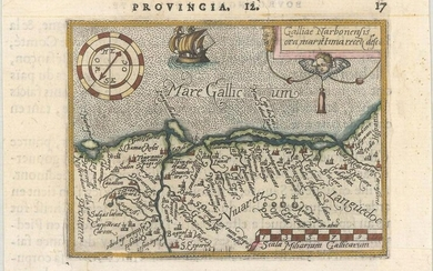 MAP, Southern France, Ortelius/Galle