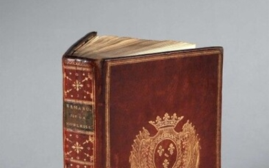 MAUGARD (Antoine). Remarks on the nobility, dedicated to the Provincial Assemblies. In Paris, Lamy and Gattey, 1788. In-8, [2] f., LXX-335 p., [2] f. (privil.), contemporary red morocco, smooth spine decorated with gilt fillets, dotted lines and...