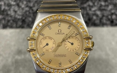 Omega gents Bi-metal Constellation watch. Gold with champagn...