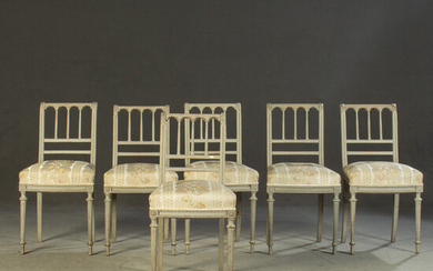 Six chairs / chaise, Louis XVI style (6).