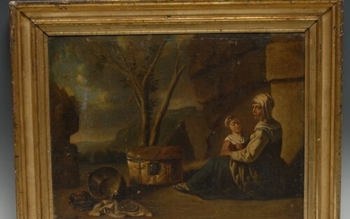 Spanish School (late 17th/18th century) Mother and Daughter...