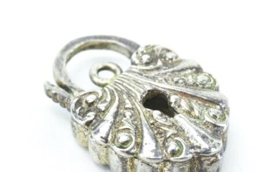 Sterling Silver Padlock Charm or Pendant