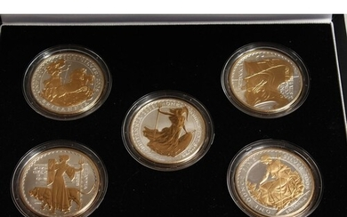 THE 2006 BRITAINNIA SILHOUETTE COLLECTION, silver and gold p...