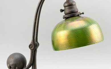 TIFFANY STUDIOS COUNTER BALANCE TABLE LAMP WITH