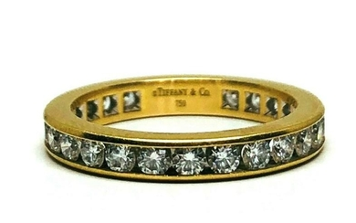 TIFFANY & CO 18K Yellow Gold Diamond Eternity Wedding
