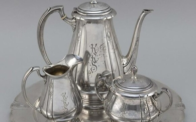 """TOWLE """"LADY DIANA"""" STERLING SILVER FOUR-PIECE TEA"""