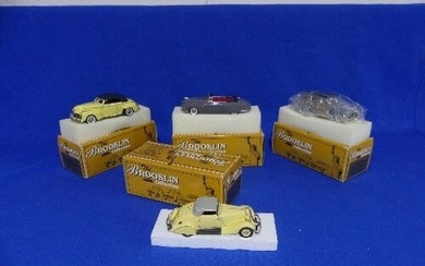 The Brooklin Collection; A collection of four 1:43 scale die...