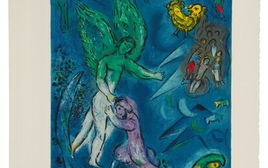 The Fight Between Jacob and the Angel (Mourlot CS 40), Charles Sorlier after Marc Chagall