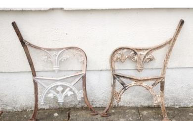 Two Victorian cast iron Garden Bench Ends. (2)...