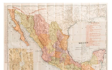 Vest Pocket Map. Republic of Mexico. St. Louis: Compliments of Greene Consolidated Gold Co., 1904. Mapa impreso, 52x68 cm., plegado.