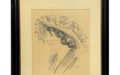 20th Century School - Portrait of a lady, indistinctly sign...
