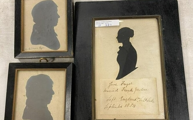 3 EARLY 19TH CENTURY FRAMED SILHOUETTES