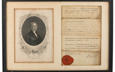 47183: Thomas Jefferson Document Signed as Governor of