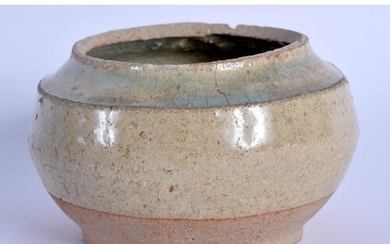 A CHINESE TANG DYNASTY CELADON POTTERY CENSER. 8.5 cm wide.