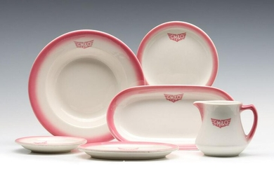 A COLLECTION OF G.M.&O. 'ROSE' PATTERN RAILROAD CHINA