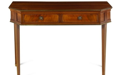 A Directoire Style Brass Mounted Mahogany Console