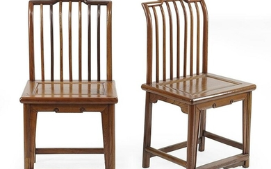 A Pair of Chinese Hardwood Side Chairs.
