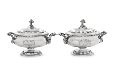 A Pair of Paul Storr George III Silver Covered Sauce