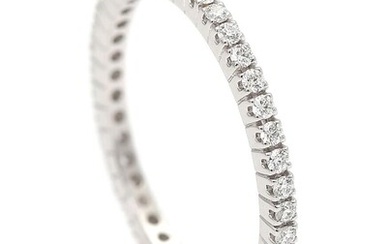 NOT SOLD. A ring set with numerous diamonds weighing a total of app. 0.39 ct., mounted in 18k white gold. Size 54. – Bruun Rasmussen Auctioneers of Fine Art