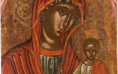 AN ICON SHOWING THE HODIGITRIA MOTHER OF GOD Greek, 17th...